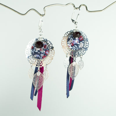 Boucles d'oreilles Lily Liberty Wiltshire marine