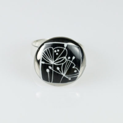 "Bague ronde en porcelaine, collection ""Louna"""